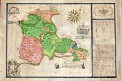 Karte von 1769 des Bannes von Taben-Rodt