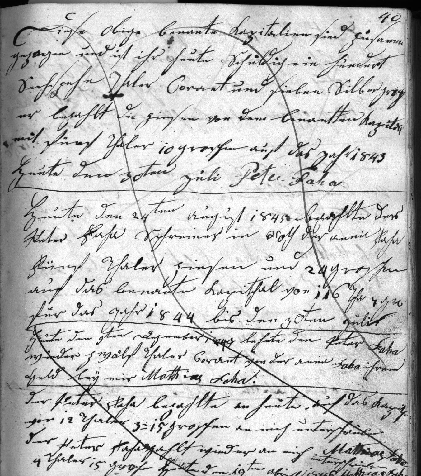 Alte Handschrift (sütterlin) 1845 übersetzen / transkribieren