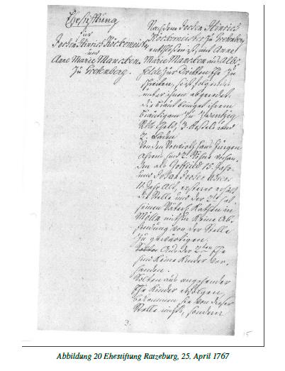 Hofakte Gretenberge Beispiel eines Originaltextes 1767