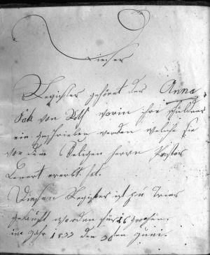 Schreibschrift aus dem Jahre 1835