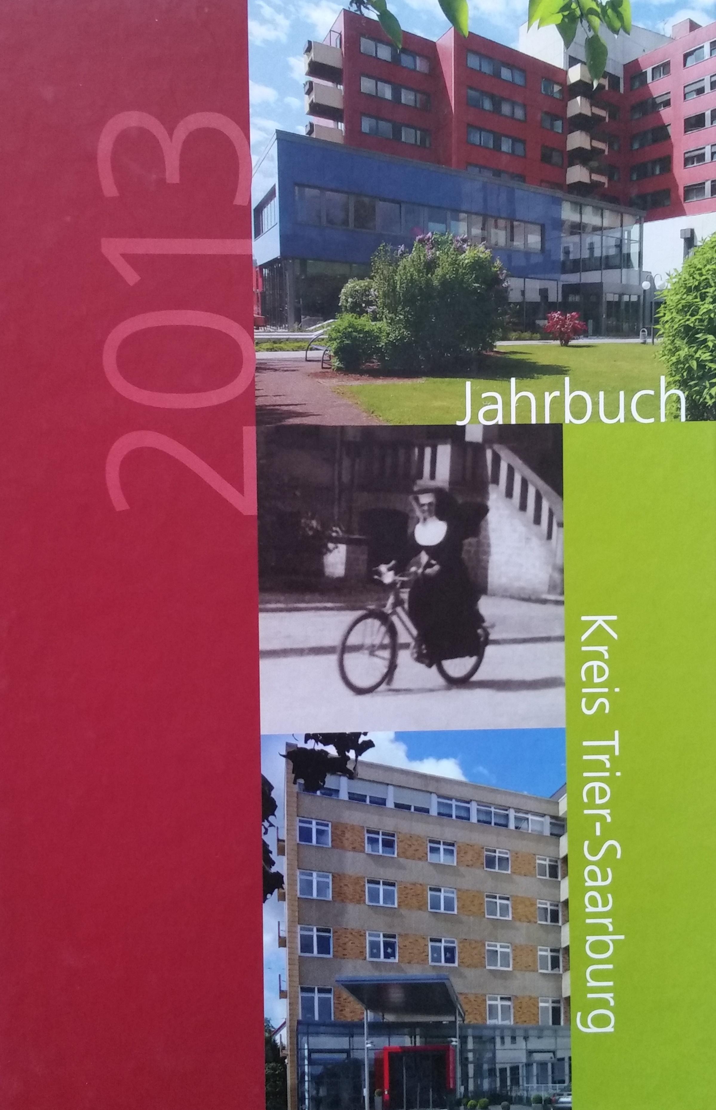 Jahrbuch 2013 Kreis Trier-Saarburg Bucheinband vorne