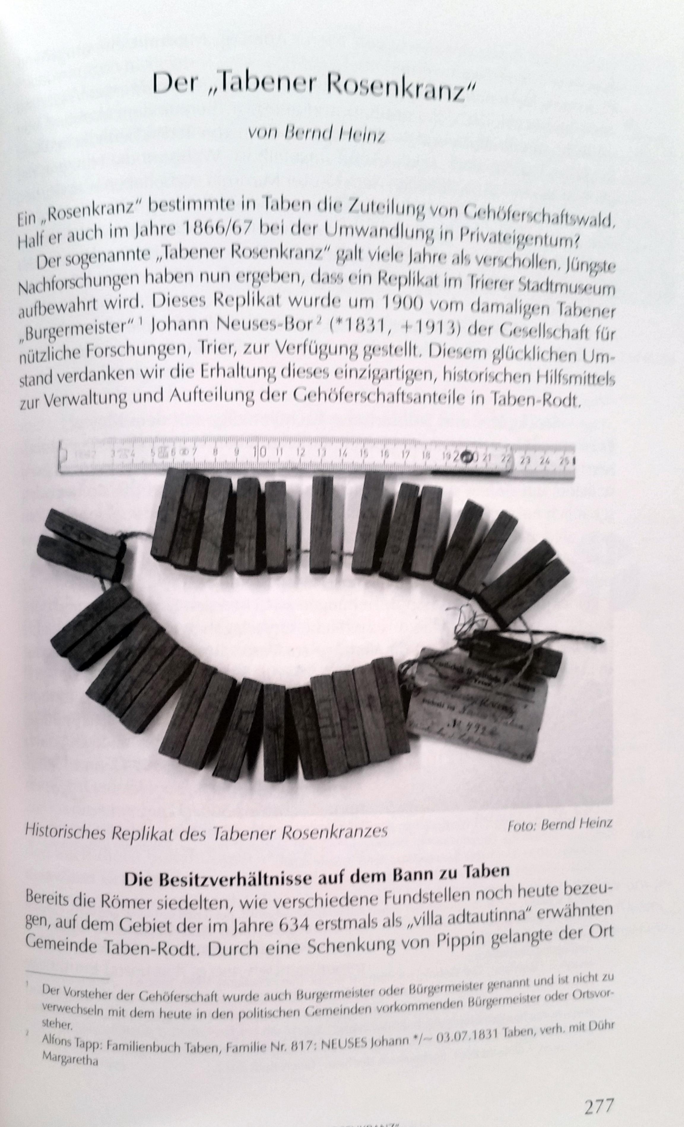 Jahrbuch 2015 Beitrag: Der Tabener Rosenkranz