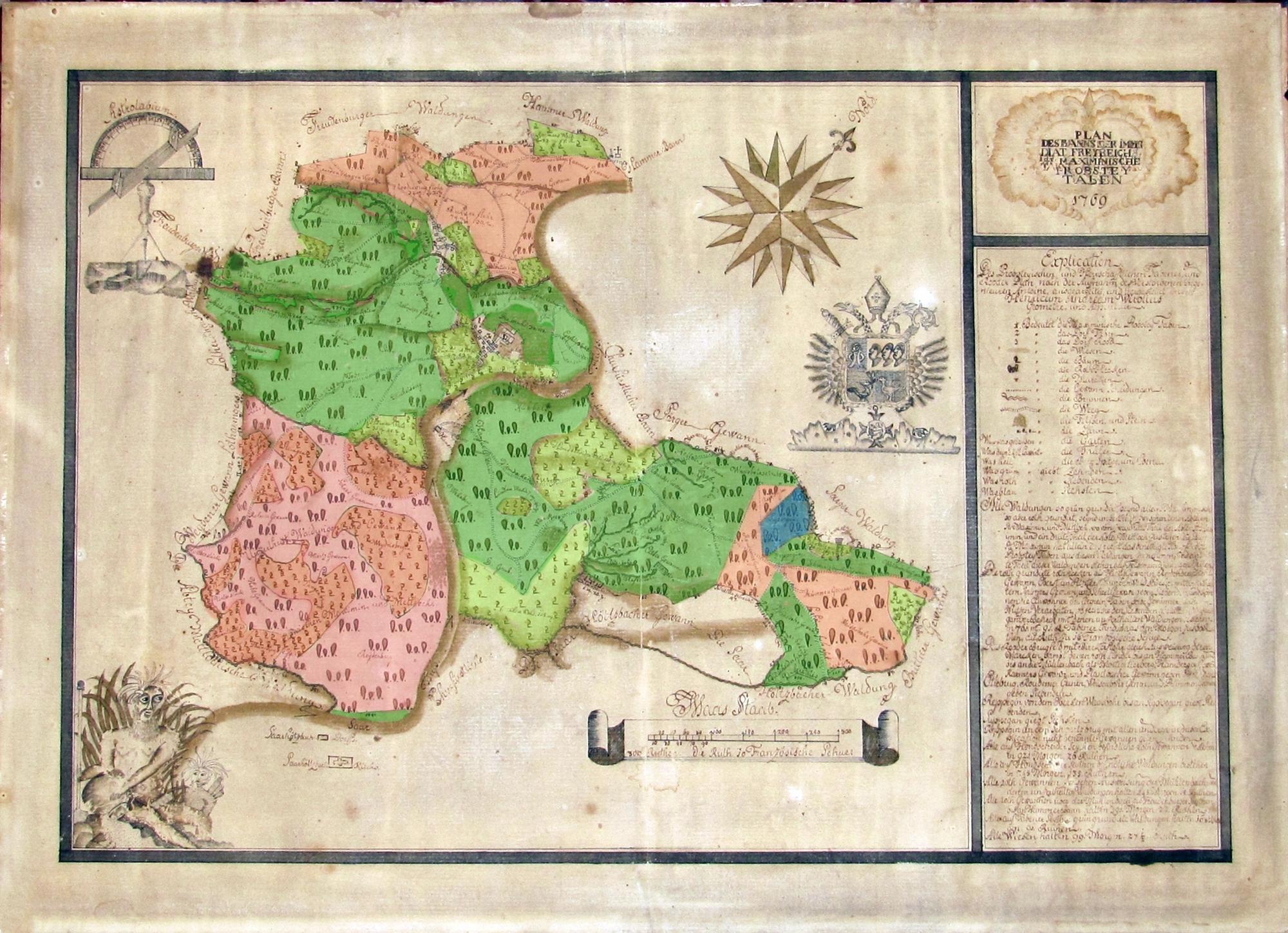 Karte des Bannes von Taben-Rodt